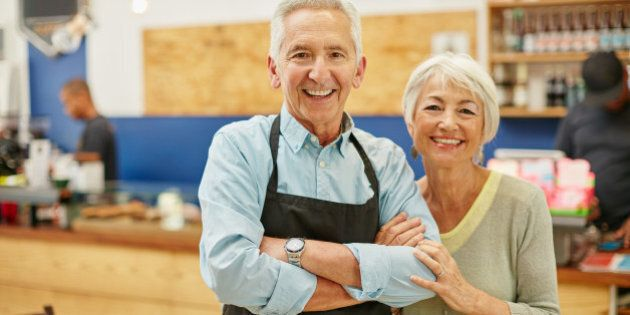 Shot of a senior couple running a small business