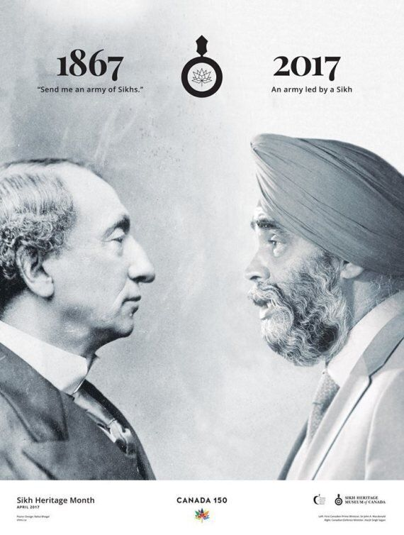 Sikh Heritage Month In Canada: John A. Macdonald, Harjit Sajjan Poster Illustrates 150 Years Of