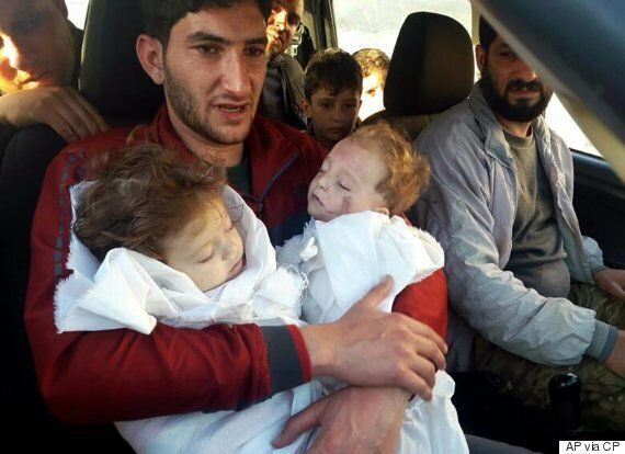Abdel Hameed Alyousef, Syrian Father, Bids Farewell To Twins Killed In