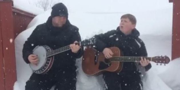 Austin And David Thomson Sing Away Newfoundland Snow Blues With Catchy