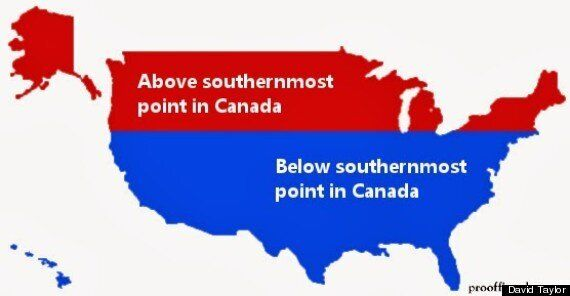 Canada-U.S. Latitude Graphic Challenges Our Assumptions About