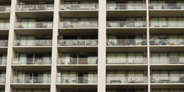 An apartment building stands in the suburb of Rhodes in Sydney, Australia, on Sunday, Jan. 8, 2017. Australian...