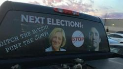 Anti-Trudeau Truck Sign Might Be 'Offensive' But It's Legal: