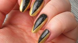 This Easy Metallic Nail Art Is Perfect For