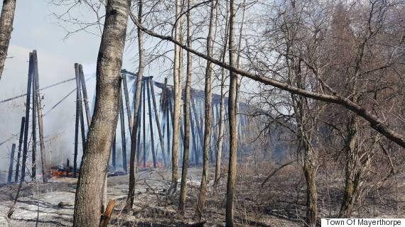 Mayerthorpe Trestle Bridge Destroyed By Massive