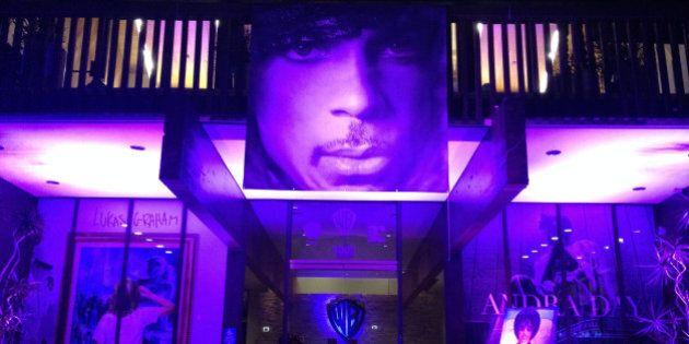 Prince Tribute at the Warner Music Building in Burbank, CA on April 26, 2016. Credit: David