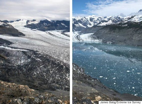 World's Glaciers Melt Away In Dramatic Before-And-After
