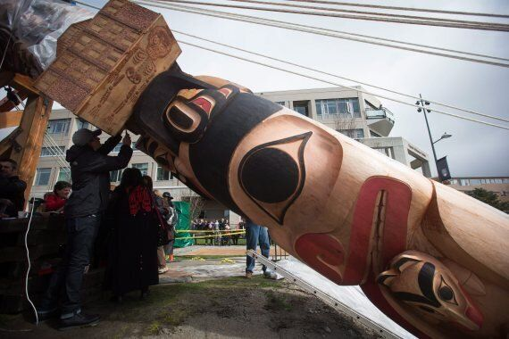 UBC Raises Reconciliation Totem Pole To Honour Residential School Victims,