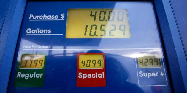 Gas prices are displayed at a Mobil gas station in Chicago, Thursday, Jan. 31, 2013. Gasoline prices...