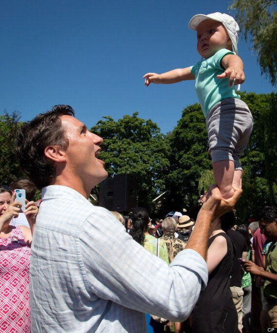 Justin Trudeau Balances Son On One Hand, But Can He Win Big In