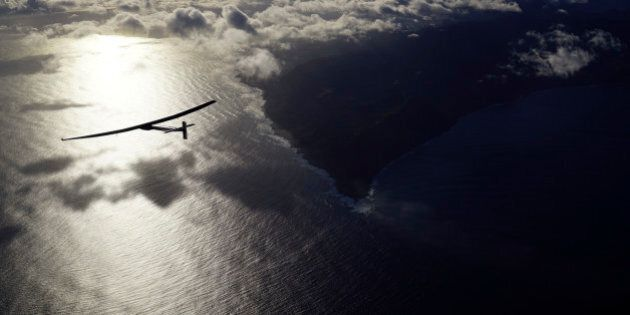 In this photo provided by Solar Impulse, the solar powered plane,