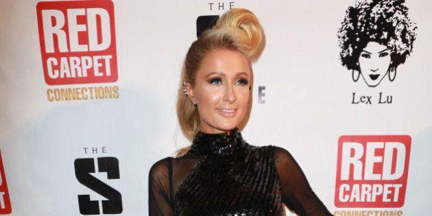 HOLLYWOOD, CA - JANUARY 23: Paris Hilton attends 4th Annual Senate Music Group LLC Pre-GRAMMY Celebration...