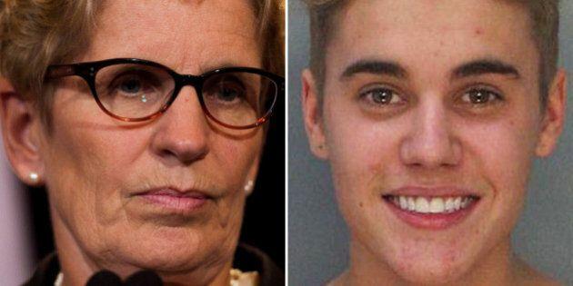 Ontario Premier Kathleen Wynne Concerned For Justin