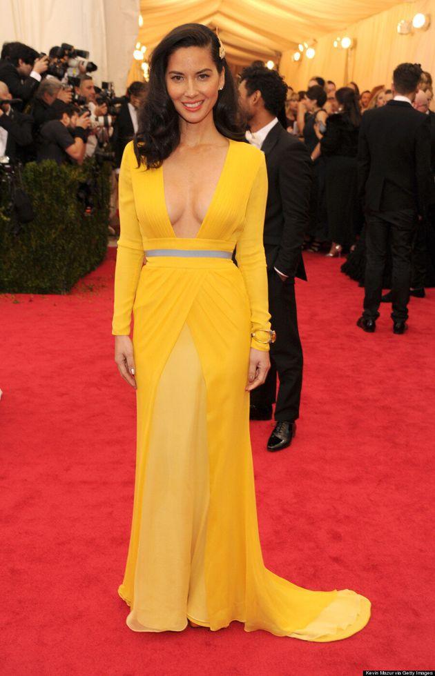 Olivia Munn's Met Gala 2014 Dress Makes Yellow Hot Again