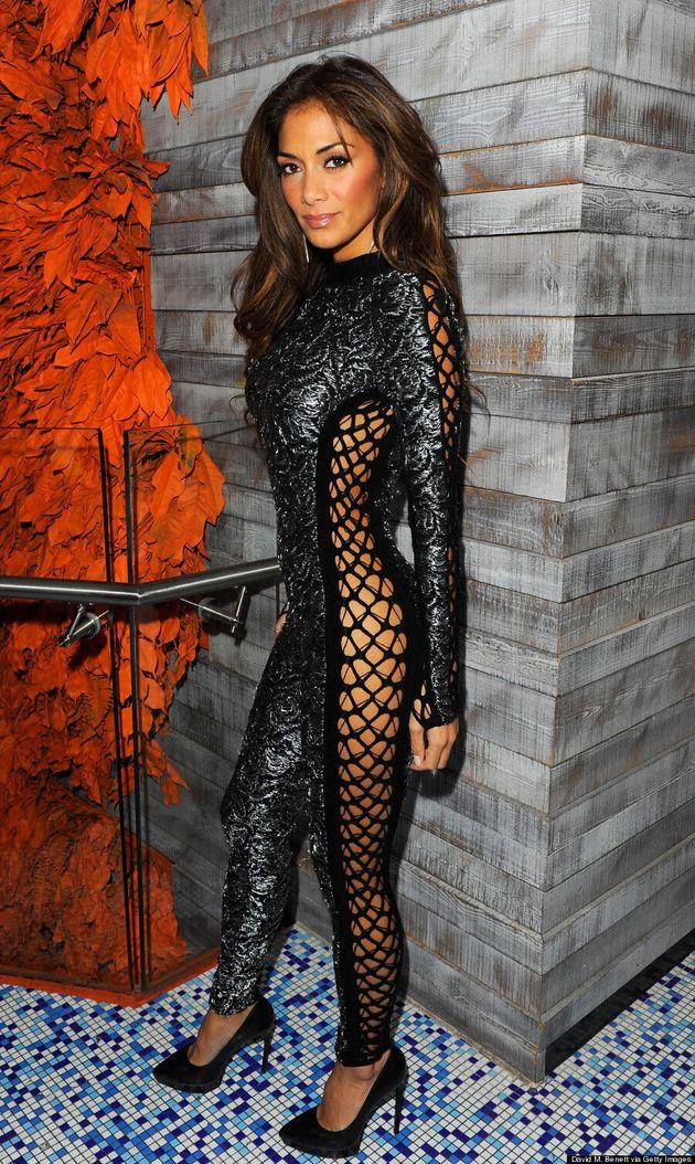 Nicole Scherzinger Ditches Underwear In Fishnet Bodysuit (VIDEO,