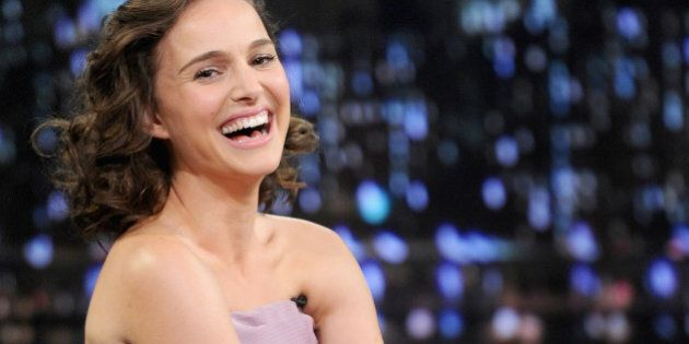 NEW YORK, NY - NOVEMBER 07: Natalie Portman visits 'Late Night With Jimmy Fallon' on November 7, 2013...