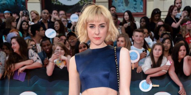 TORONTO, ON - JUNE 15: Jena Malone arrives at the 2014 MuchMusic Video Awards at MuchMusic HQ on June...