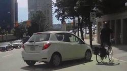 ►Driver In Vancouver Bike Lane Almost Hits