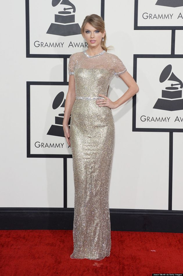 Taylor Swift's Grammys 2014 Dress Is So Bright It Hurts Our Eyes