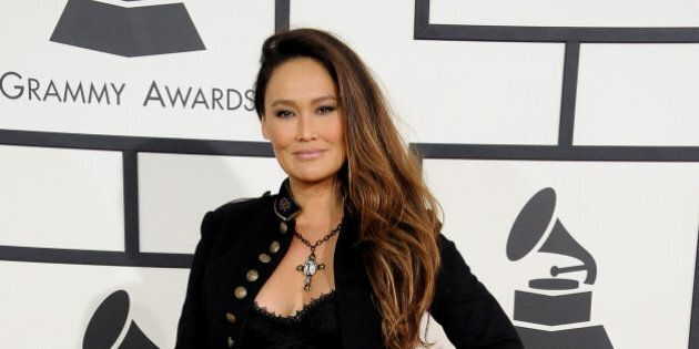 LOS ANGELES, CA - JANUARY 26: Actress Tia Carrere attends the 56th GRAMMY Awards at Staples Center on January 26, 2014 in Los Angeles, California. (Photo by Steve Granitz/WireImage)