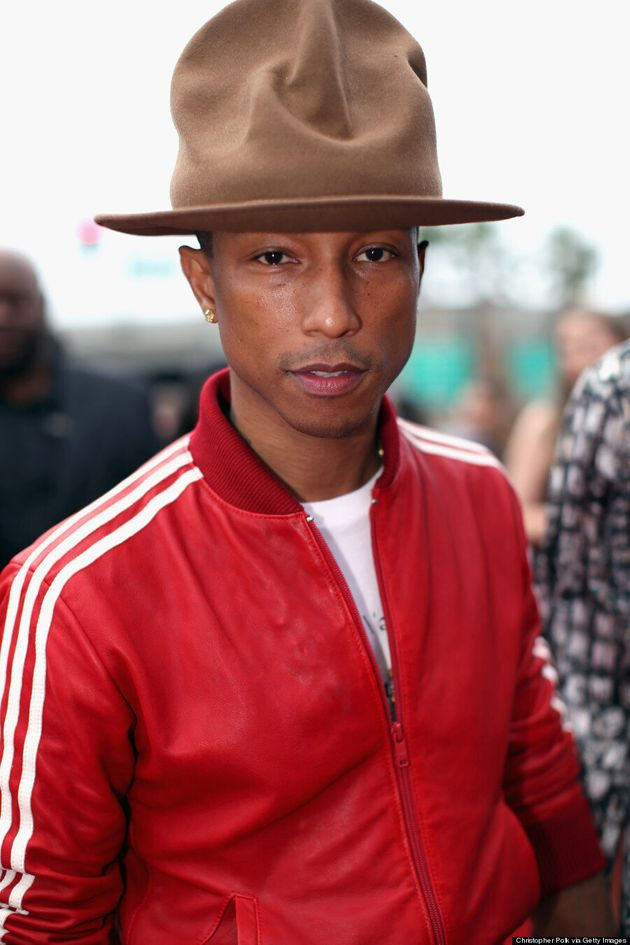 Pharrell Williams' Grammys 2014 Hat Makes Him Look Like A Mountie