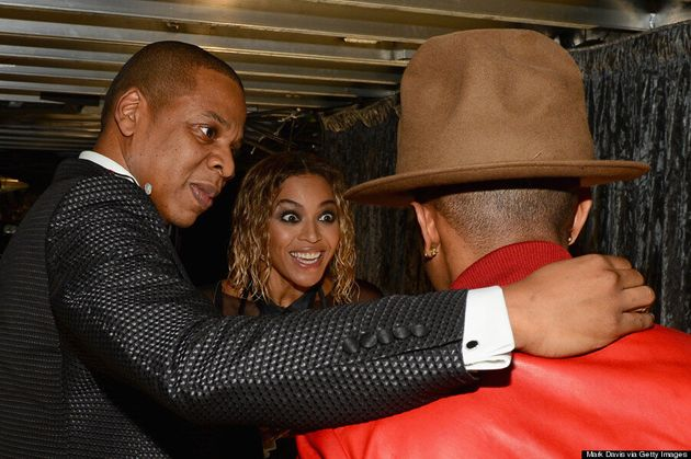 Beyonce Had The Best Reaction To Pharrell's Grammys 2014 Hat