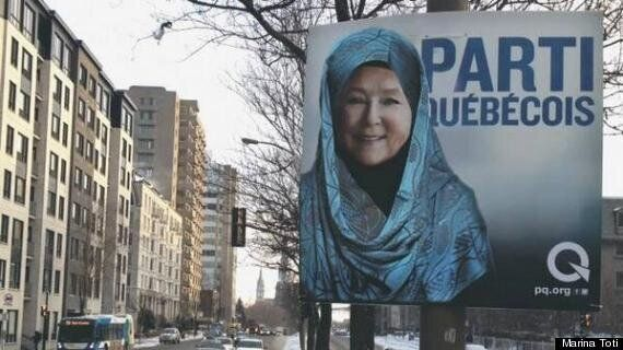 Pauline Marois In A Hijab Is One Artist's Statement Against Quebec Charter Of
