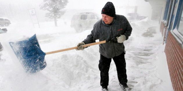 Alberta Snow And High Winds Form Massive Snow Drifts