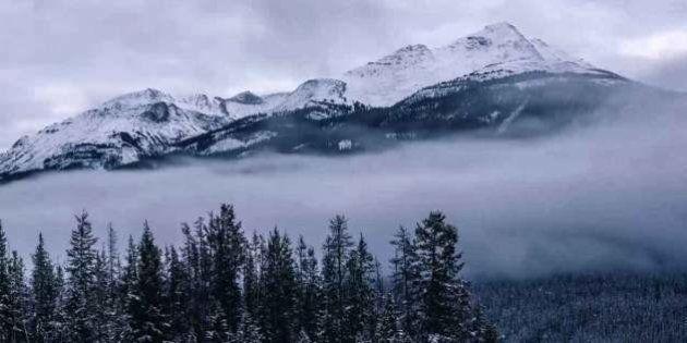Fog In Jasper Before Blizzard Pummels Alberta
