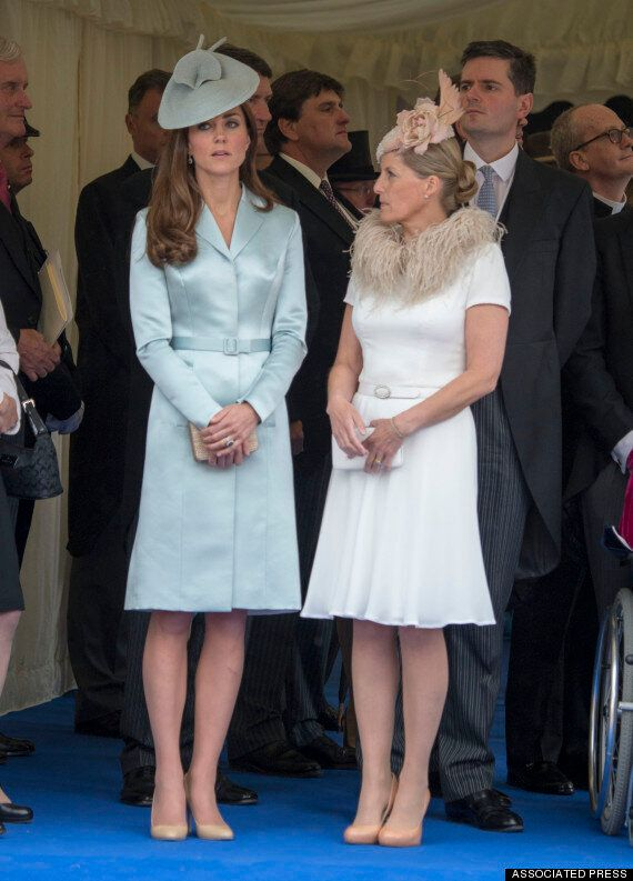 Kate Middleton, Duchess Of Cambridge, Shines In Classy Blue Coat