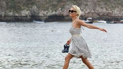 Where Has She Been? Pamela Anderson Runs Around In