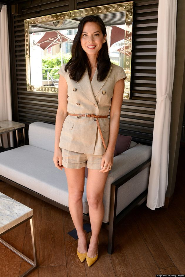 Olivia Munn Goes Safari Chic In Michael Kors