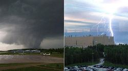 Tornado Hits Airport. Lightning Hits Nuclear Plant. IT'S SCARY STORM DAY IN