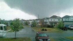 Ontario Tornado Rips Walls From