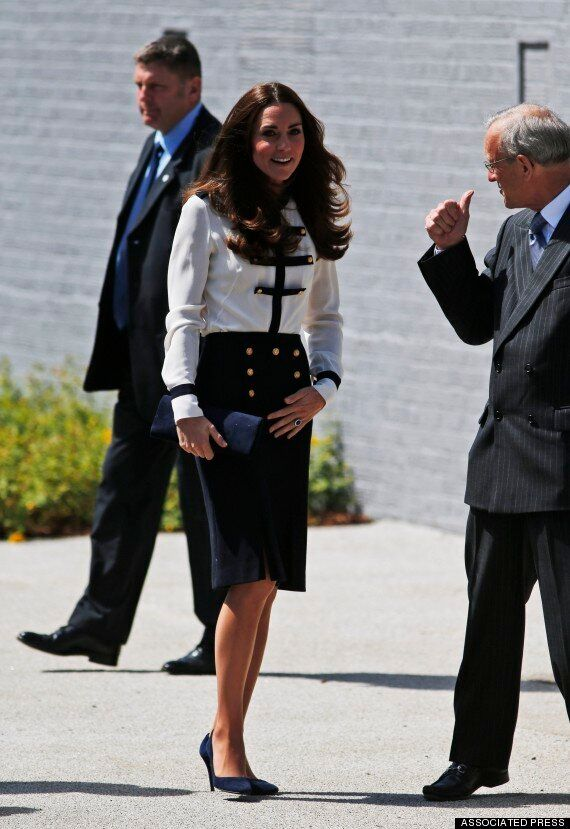 Kate Middleton, Duchess Of Cambridge, Wears Military Chic In McQueen