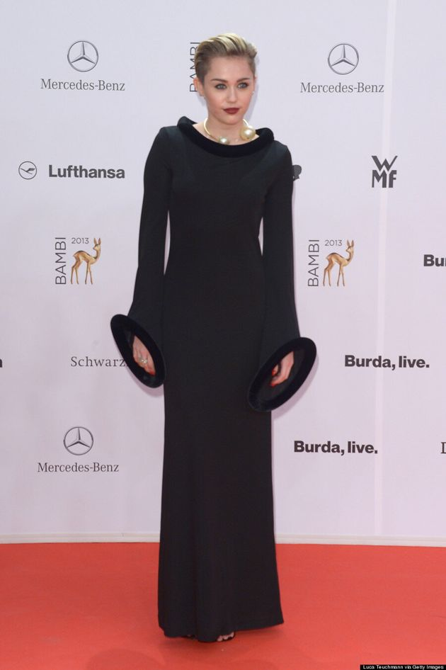 Miley Cyrus Covers Up Completely In Vintage Gaultier At Bambi Awards