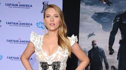 ScarJo Shows Off Baby Bump On Red