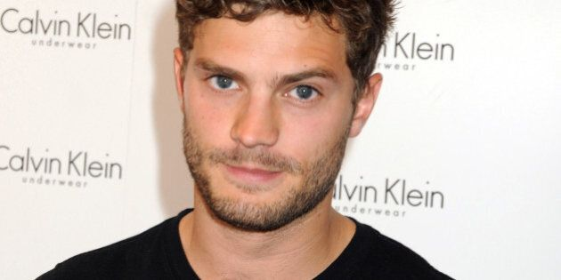 LONDON, ENGLAND - SEPTEMBER 05: Jamie Dornan attends the '9 Countries, 9 men, 1 Winner' Calvin Klein Photocall at House of Fraser, Oxford Street on September 5, 2009 in London, England. (Photo by Dave M. Benett/Getty Images)