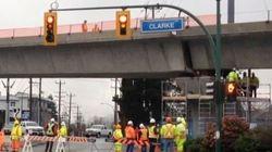 Evergreen Line Construction Mishap Blocks Coquitlam