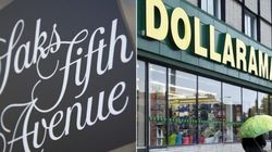 Saks and Dollarama: Canada's Unequal