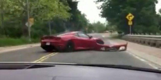 Ferrari Crashes During Exotic Car Tour Near