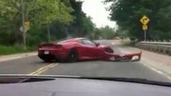 Ferrari Crashes During Exotic Car