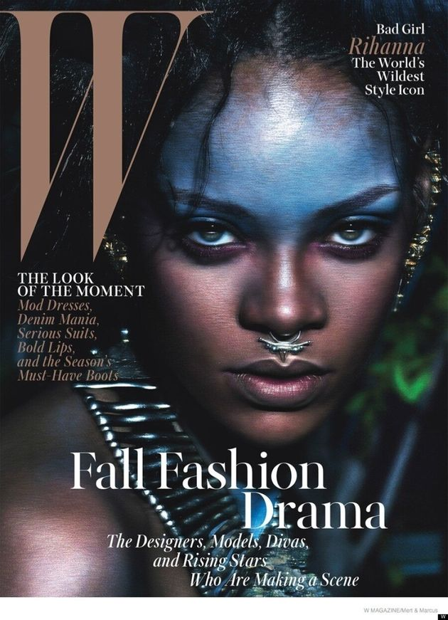 Rihanna's Septum Piercing Is The Star Of W's September 2014
