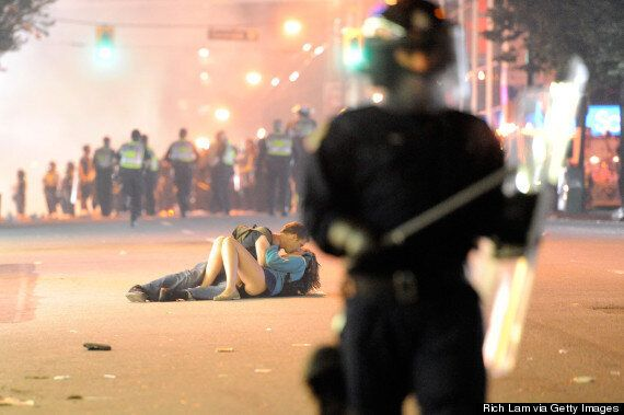 Stanley Cup Riot Kissing Photo Appears In Barcelona Clothing Ad