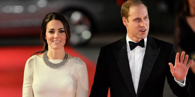 Britain's Prince William, Duke of Cambridge, and his wife Catherine, Duchess of Cambridge, arrive to...