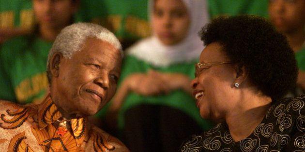 TORONTO, ON - NOVEMBER 17: Nelson Mandela and his wife Graca Machel at the renaming of Park Public School...