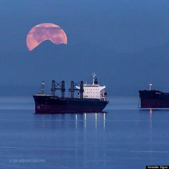 Supermoon 2014 Rises Over B.C.