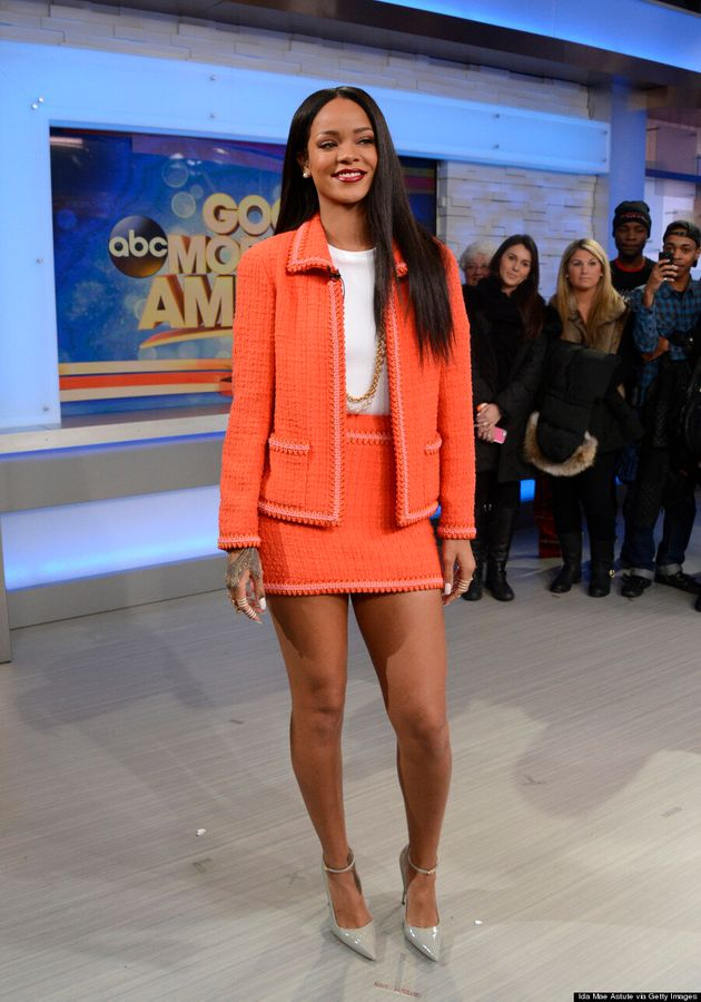 Rihanna Goes Ladylike In Chanel Suit On 'Good Morning