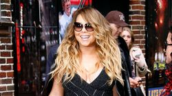 Mariah Carey Almost Busts Out Of