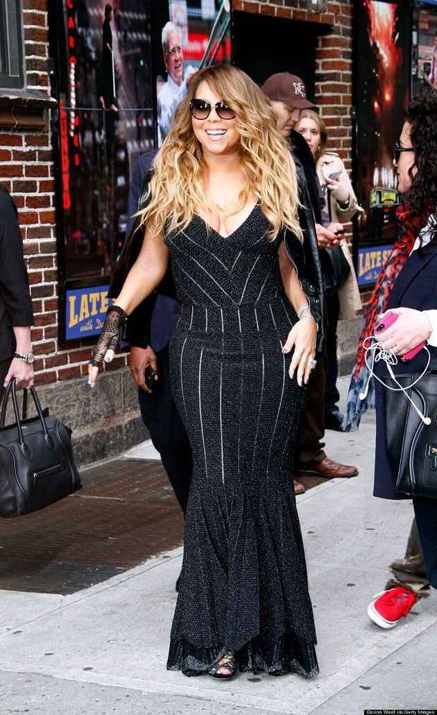 Mariah Carey Almost Busts Out Of Cleavage-Baring